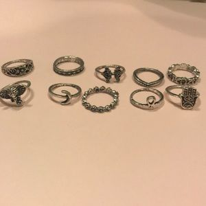 Jewelry - New In Packaging Bohemian Ring Set Comes with 10